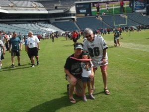 Eagles training camp with Tim and my dad