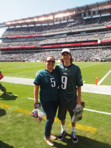 Janie and I on the field