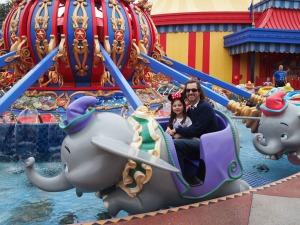 Katie, Dumbo, and I