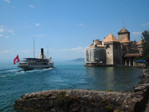 The boat that took us to Chateau de Chillon
