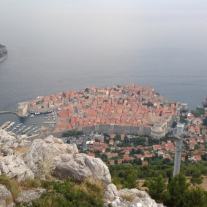 Looking down on Dubrovnik
