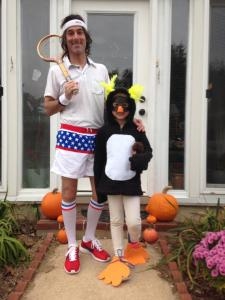 This was our Halloween costumes. Katie was a macaroni penguin. Is it bad that I have worn my outfit outside of Halloween?
